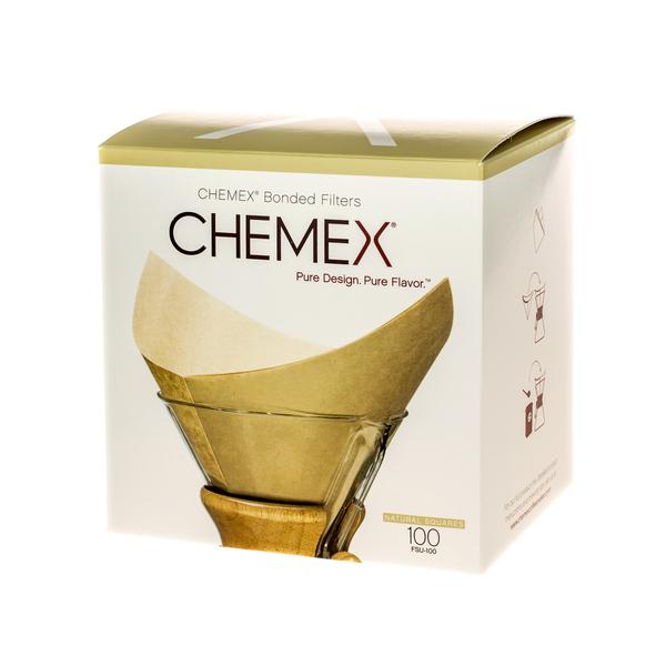 Chemex filtry papierowe kwadratowe – Brązowe – 6, 8, 10 filiżanek