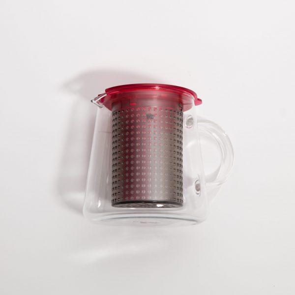 Dzbanek z zaparzaczem Tea Control 0,8 l czerwony Finum