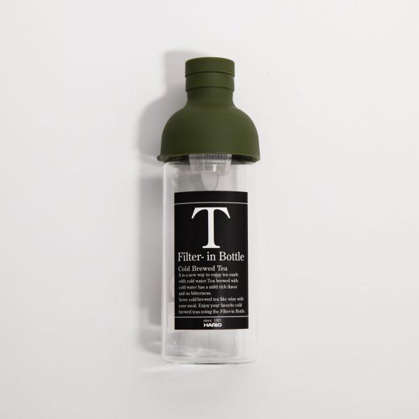 Hario butelka z filtrem Cold Brew Tea – oliwkowa zieleń 300 ml