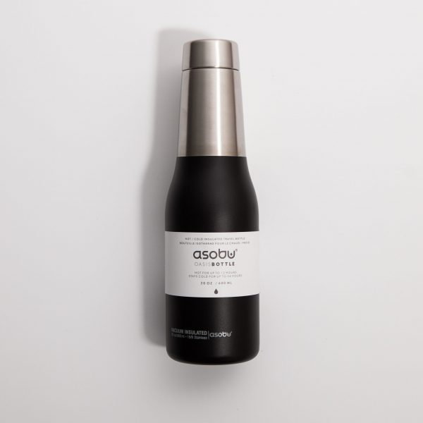 Asobu – Oasis Water Bottle Czarny – Butelka termiczna 600 ml