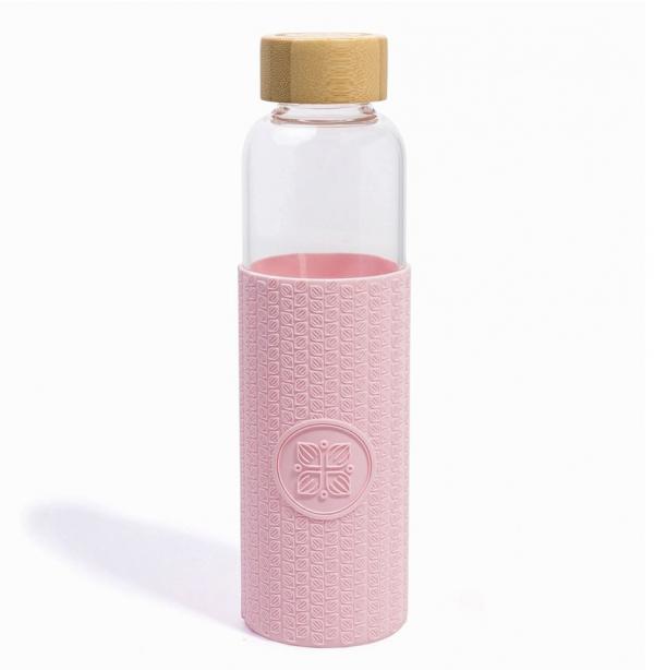 Funk My World szklana butelka różowa 550 ml